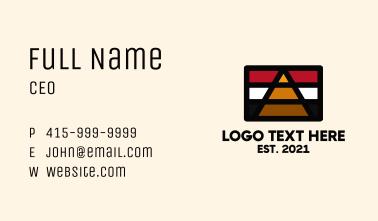 Egypt Pyramid Flag Business Card