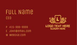 Chinese Dragon Lettermark Business Card