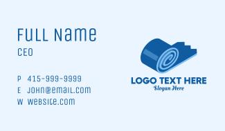 Blue 3D Gum Tape  Business Card