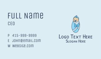 Blue Newborn Baby Business Card