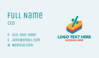Percent Discount Tags Business Card