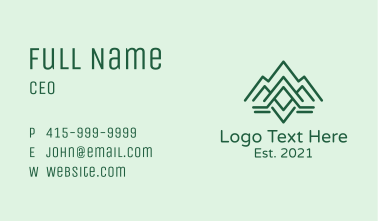 Mountain Range Letter A  Business Card