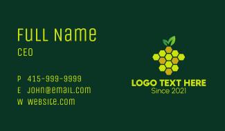 Pineapple Bee Hive  Business Card