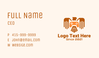 Eagle Game Streaming Business Card