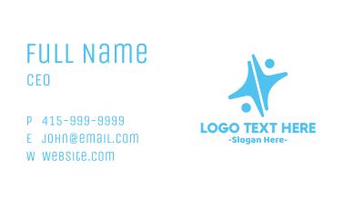 Blue Human Star Business Card