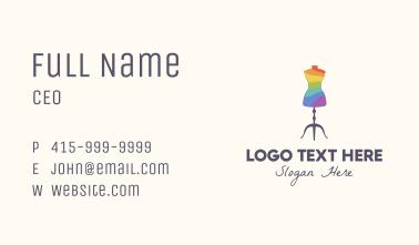 Rainbow Dress Tailoring Business Card