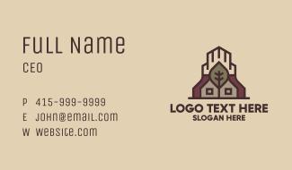 Leaf Shrine Building Business Card