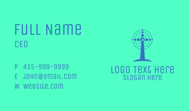 Blue Windmill Business Card