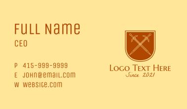 Medieval Sword Emblem  Business Card