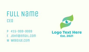 Gradient Eye Letter S Business Card