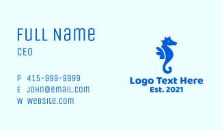Blue Marine Seahorse  Business Card