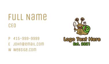 Snail Cutlery Mascot Business Card