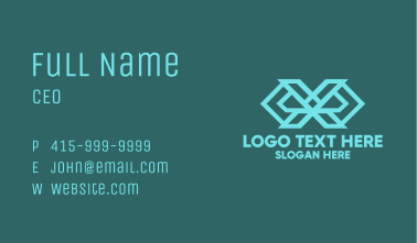 Abstract Letter X Business Card