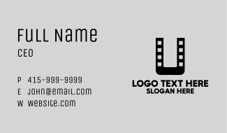 Film Letter U  Business Card