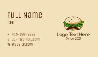 Burger Mustache Business Card