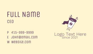 Superhero Coffee Delivery  Business Card