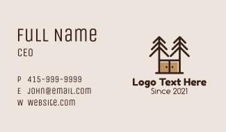 Pine Cabinet Furniture Business Card