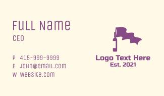 Purple Bottle Flag  Business Card