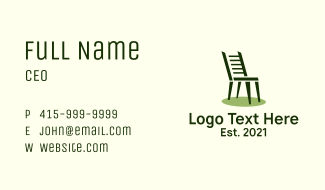 Ladderback Dining Chair Business Card
