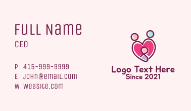 Heart Family Adoption  Business Card