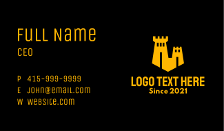 Yellow Sand Castle  Business Card