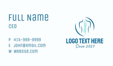 Chiropractor Rehabilitation  Business Card