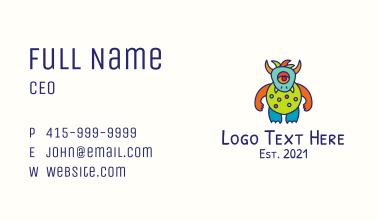 Horned Alien Monster Business Card