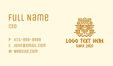 Mayan Tribe Sculpture Business Card