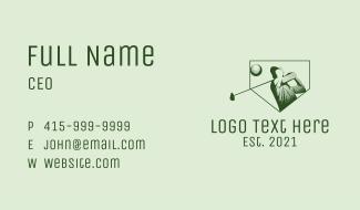 Minimalist Golf Player Business Card