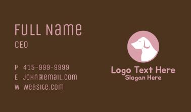 Labrador Vet Silhouette Business Card