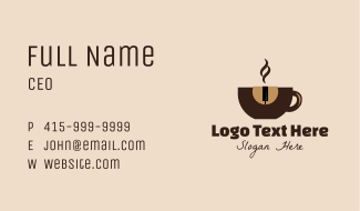 Piano Coffee Shop Business Card