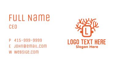 Orange Tree Letter Business Card