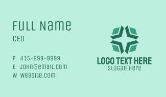 Green Generic Business Star Business Card