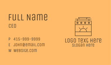 Stove Top Oven  Business Card