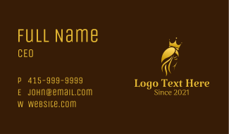 Golden Royal Queen Business Card