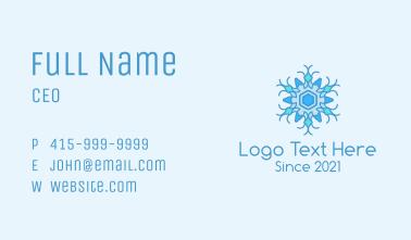 Ornamental Snowflake Business Card