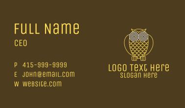 Hypnotic Owl Eye Business Card