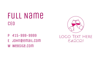 Wine Cheers Celebration Business Card