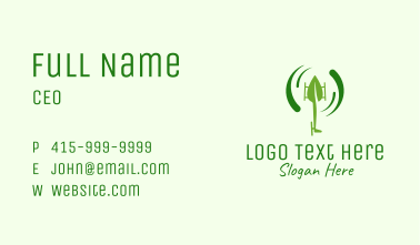 Leaf Helicopter Business Card