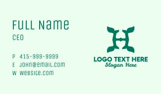 Leaf Letter H Business Card