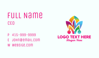 Colorful Jester Hat Business Card