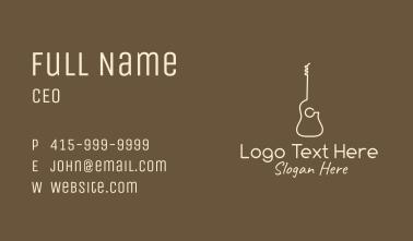 Minimalist Acoustic Guitar Business Card