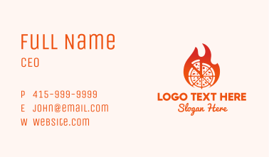 Flaming Hot Pizza Business Card