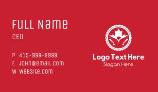 Canadian Leaf Eagle Badge Business Card