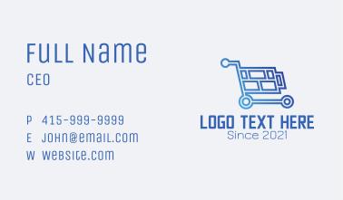 Tech Store Shopping Cart  Business Card