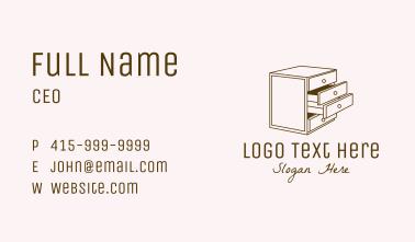 Minimalistic Furniture Cabinet Business Card