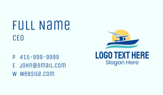 Ocean Sun Boat Business Card