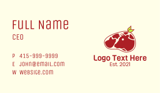 Organic Beef Meat Business Card