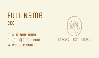 Cookie Hand Outline Business Card