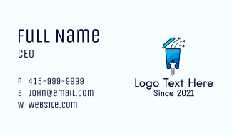 Star Drinking Cup Business Card